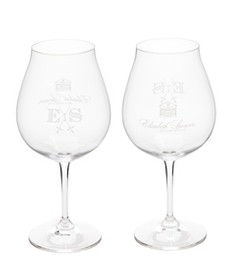 Set of 2 Etched PN/Chard Glasses
